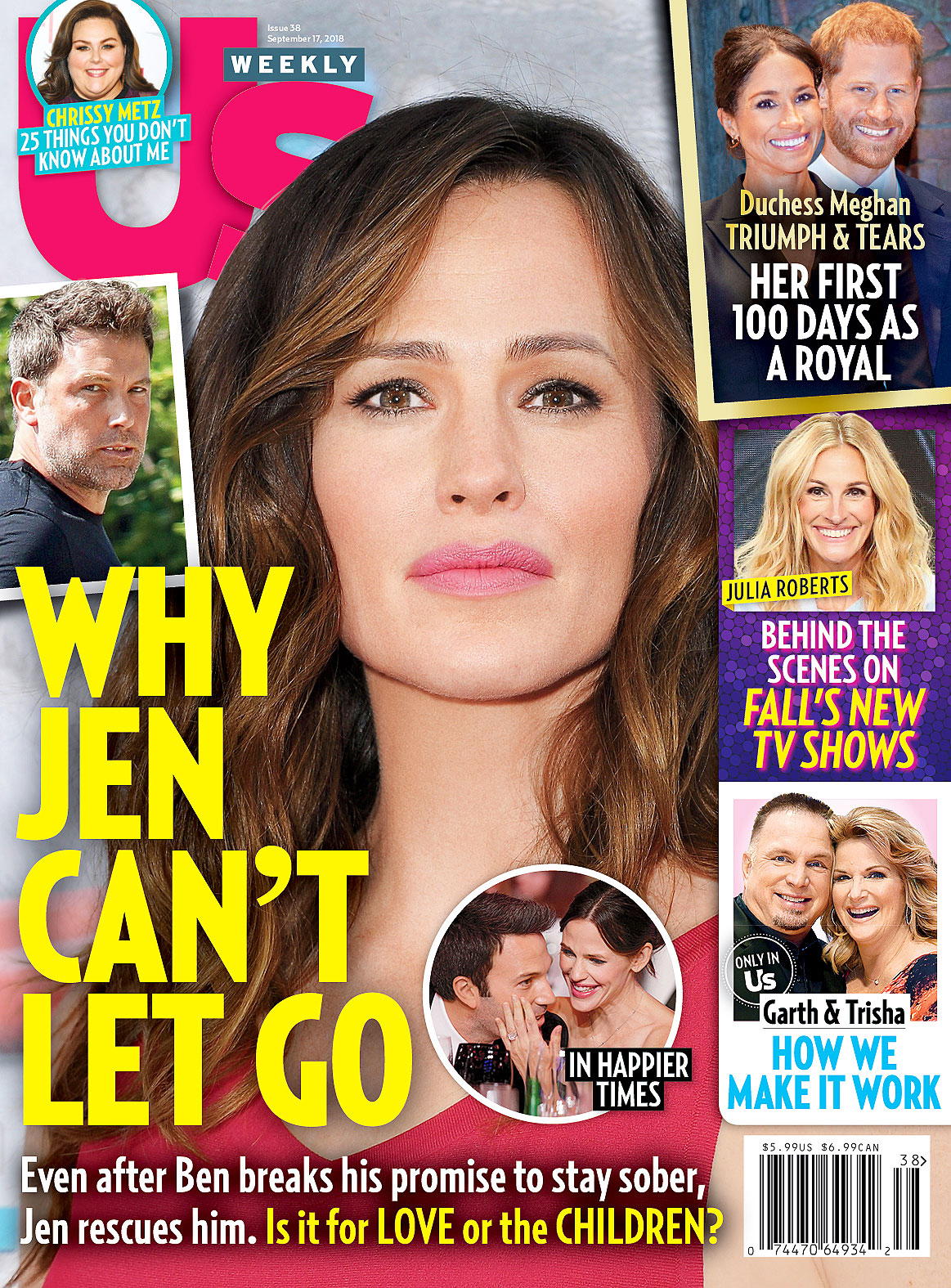 US3818 Us Weekly Cover Jennifer Garner
