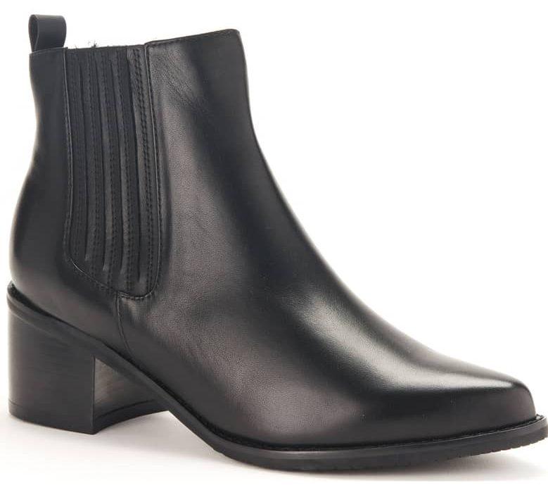 black waterproof ankle boot