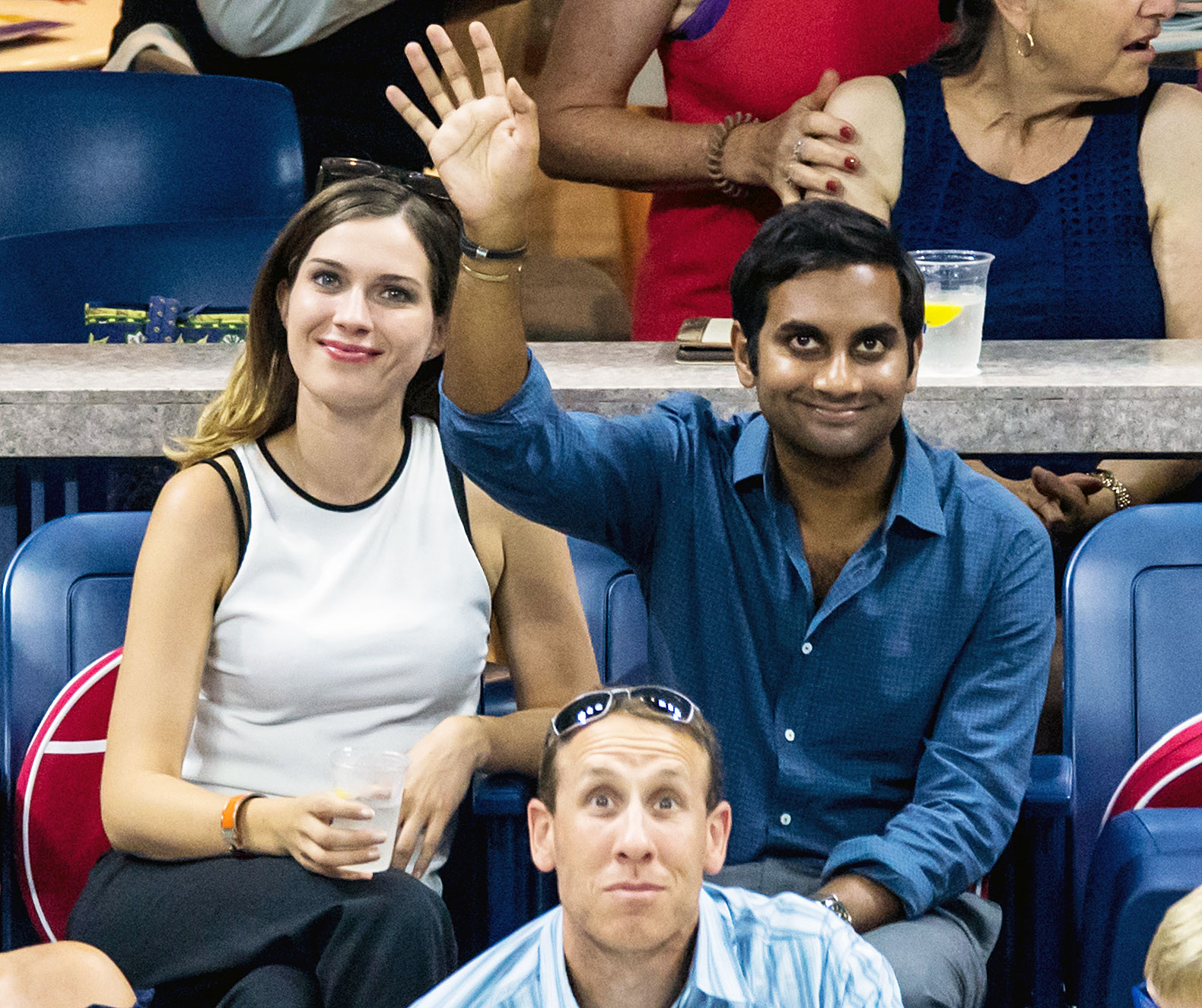 Aziz Ansari Us Open 2018 - The Master of None star stepped out for a rare appearance on September 3.