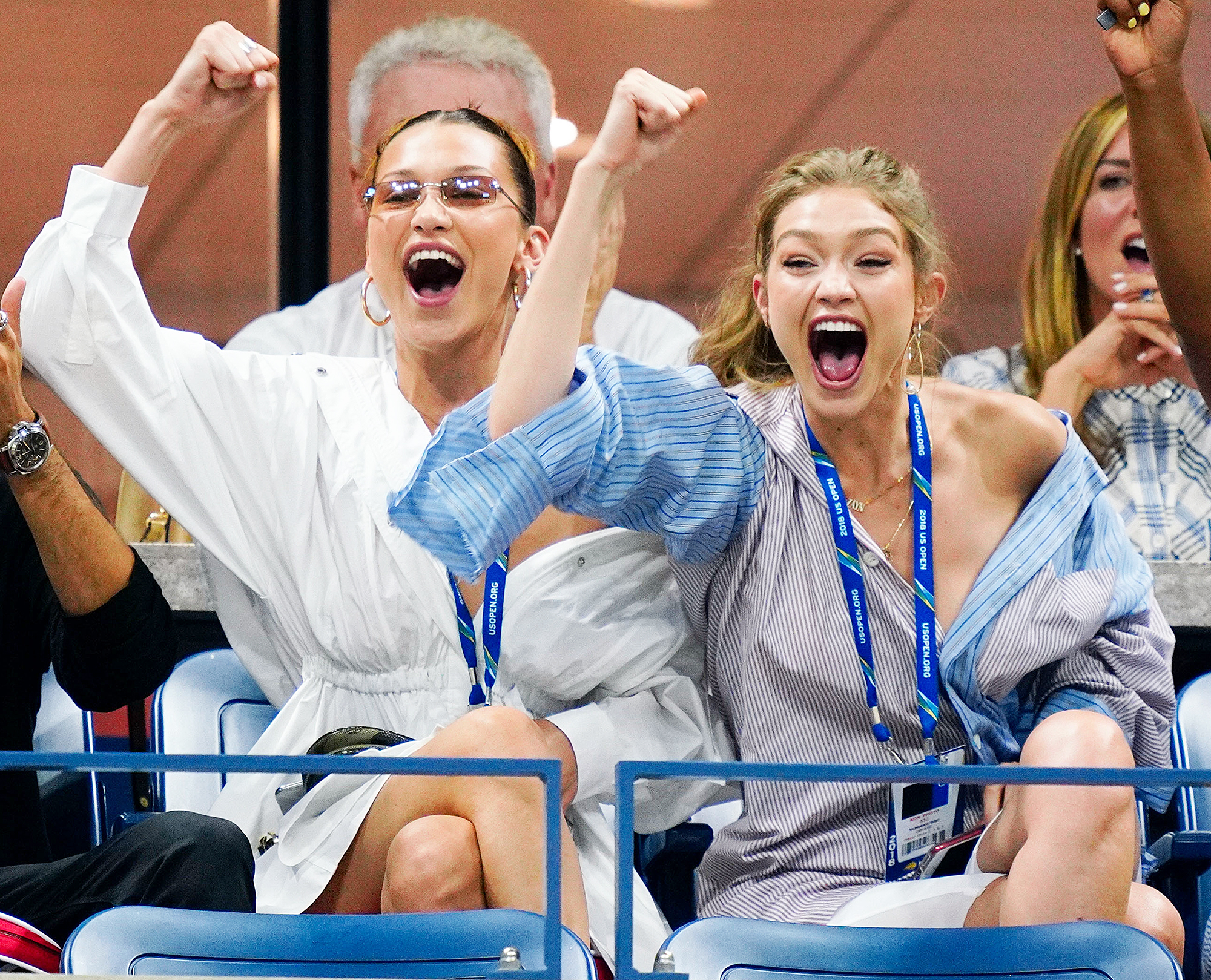 Bella Hadid Gigi Hadid Venus Williams Us Open 2018 - The supermodel sisters got into the gameday spirit on September 4.