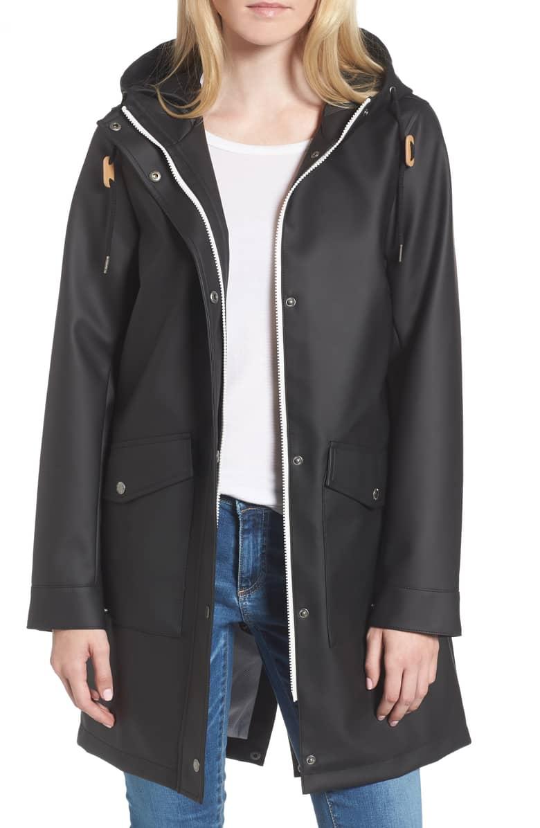 black rain coat levis