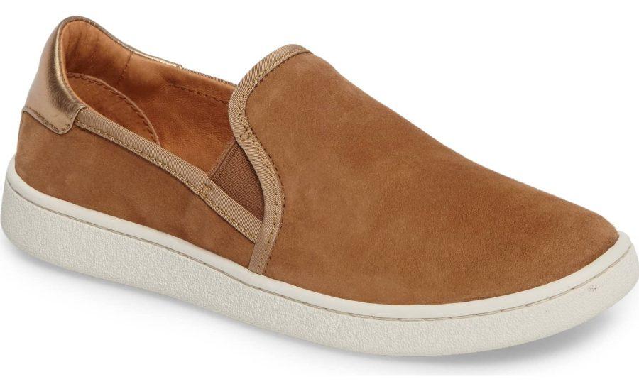 brown suede ugg slip on sneaker