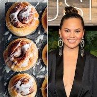 Chrissy Teigen and cinnamon bun