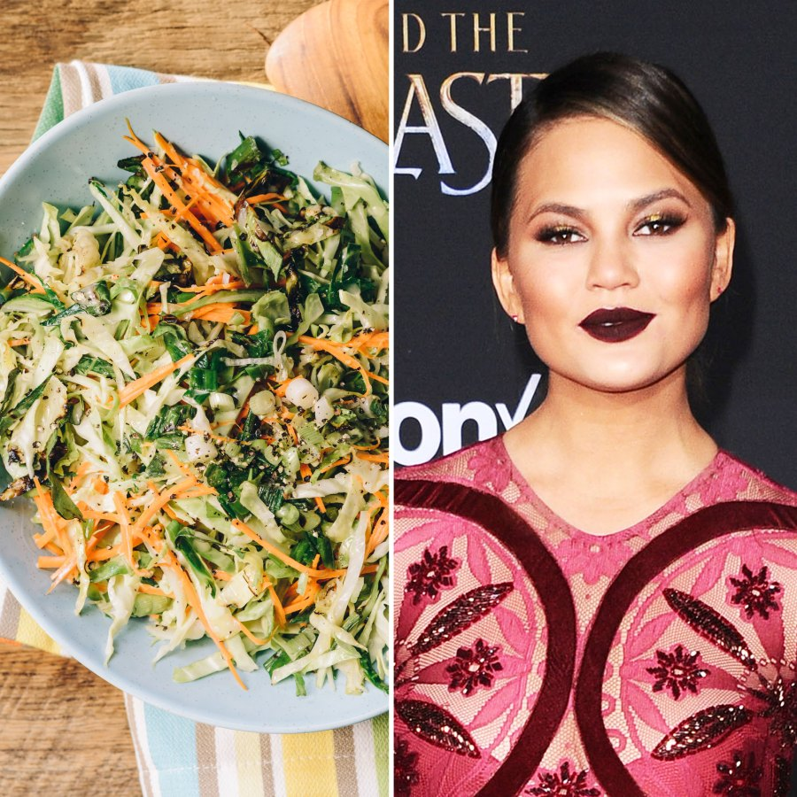 Chrissy Teigen and coleslaw