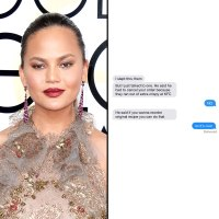 Chrissy Teigen and text message
