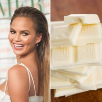 Chrissy Teigen and white chocolate
