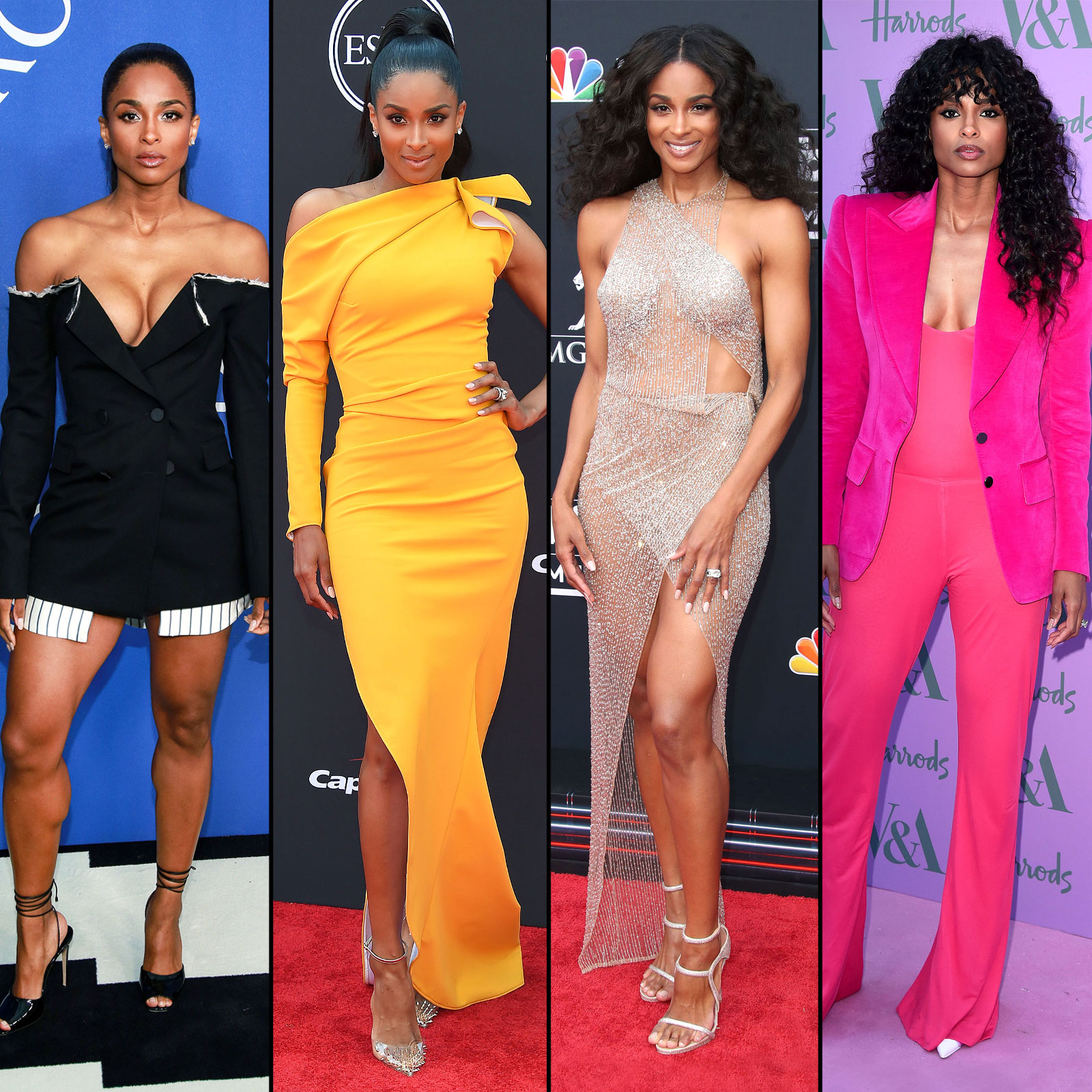 Ciara S Red Carpet Style See Her Best Dresses Suits More