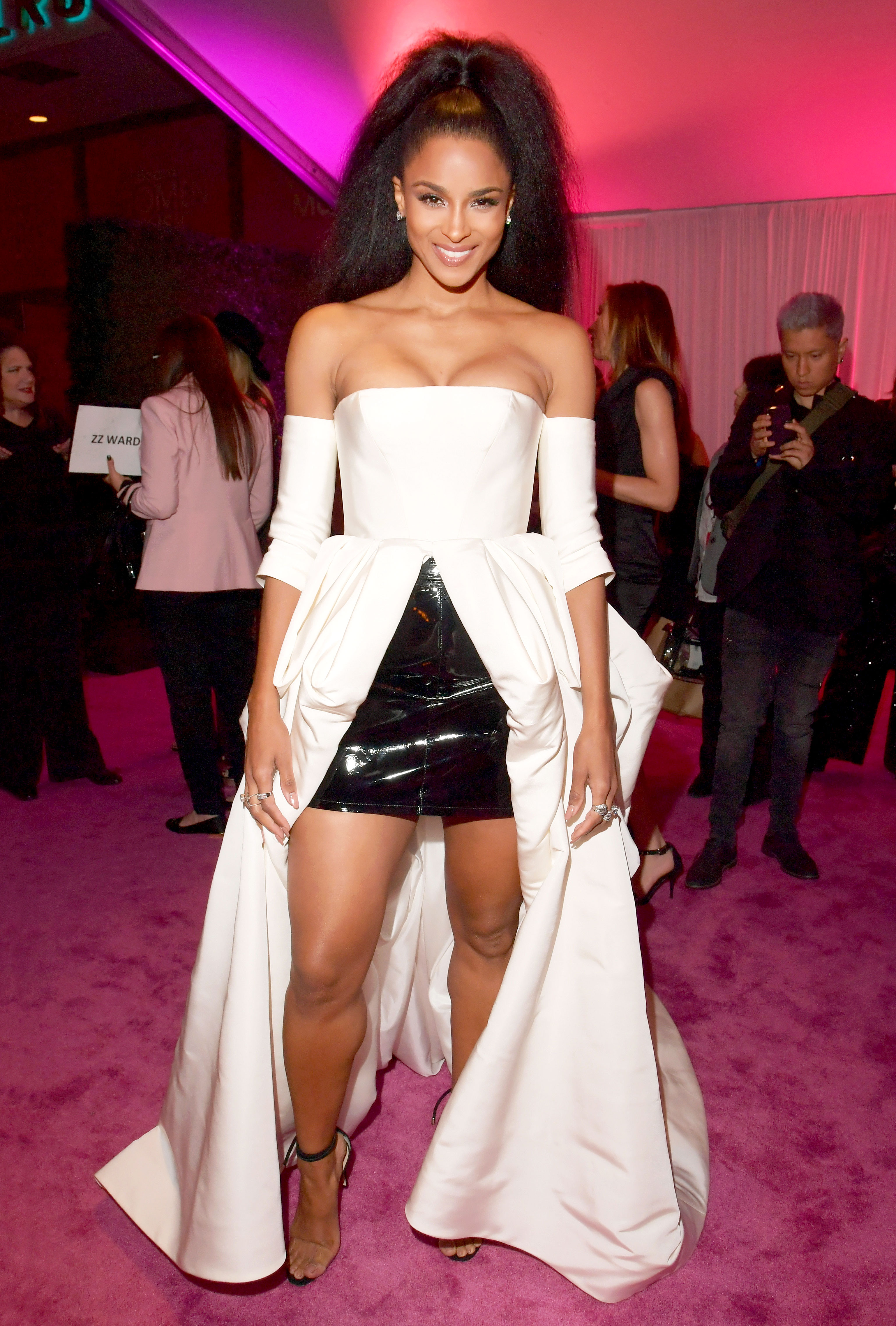 ciara - In a Vera Wang Collection gown and Effy Diamond ring at the Billboard Women In Music event.