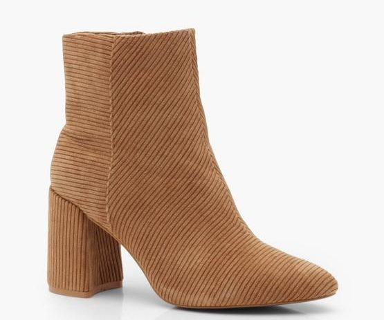 corduroy ankle boots boohoo sale