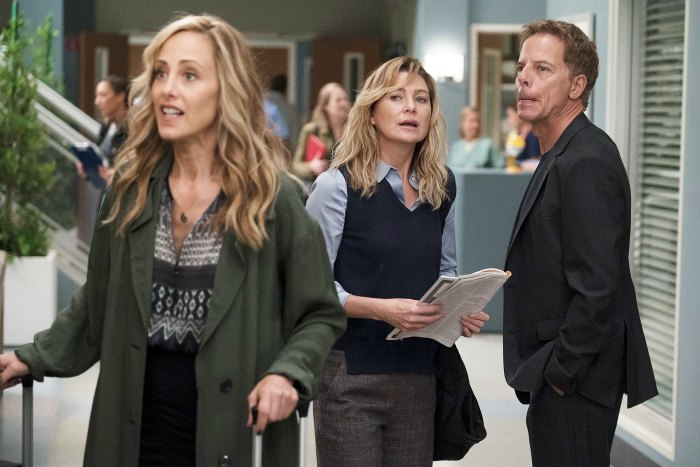Kim Raver Ellen Pompeo Greg Germann Grey's Anatomy