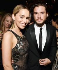 Emilia Clarke Kit Harington Emmys 2018 Afterparties