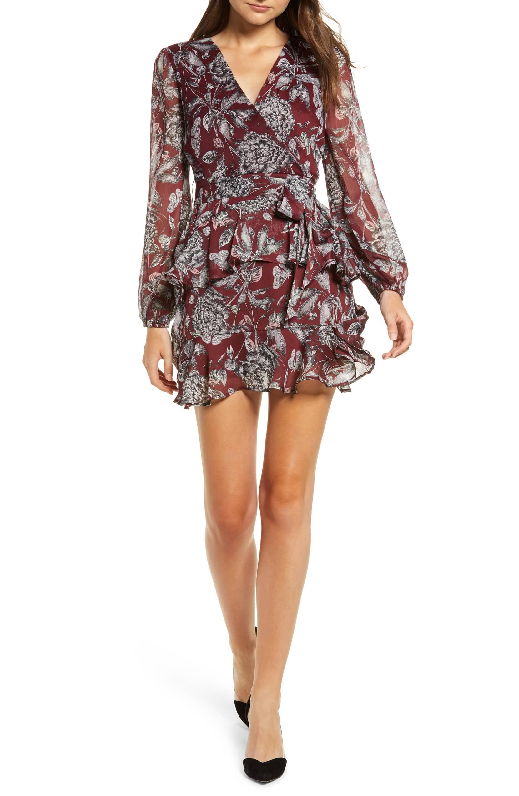 floral print ruffled tier dress nordstrom