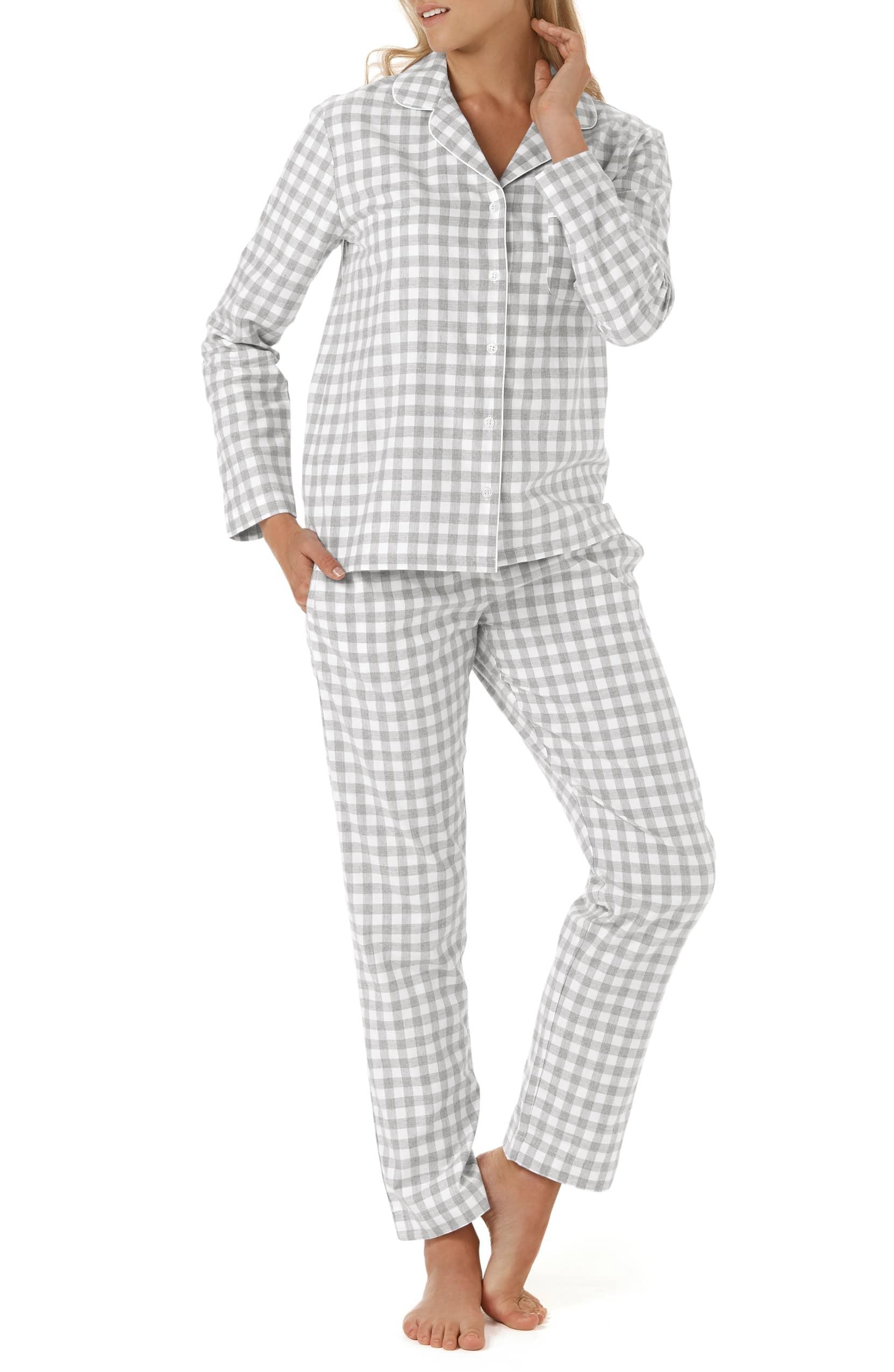 gingham check pajamas