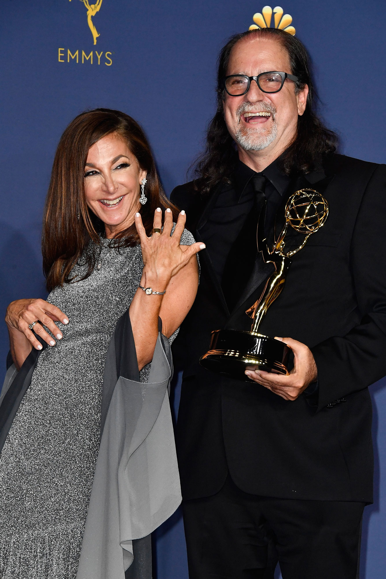 glenn weiss - Outstanding Directing for a Variety Special winner Glenn Weiss (R) poses with Jan Svendsen in the press room during the 70th Emmy Awards at Microsoft Theater on September 17, 2018 in Los Angeles, California. (Photo by Frazer Harrison/Getty Images)