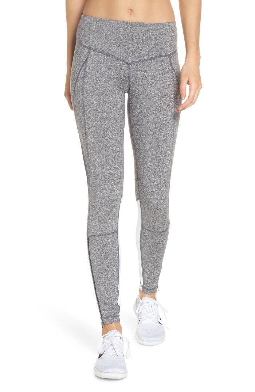 gray leggings Zella