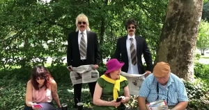 Justin Bieber and Jimmy Fallon Go Unnoticed While Dancing in Disguises in Central Park