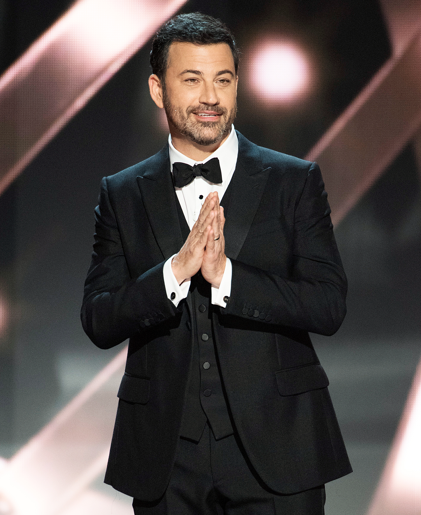 "Jimmy Kimmel Emmy Awards Host 2016 - Kimmel returned to the Emmys stage in 2016 after a four-year hiatus. ""This year's nominees are the most diverse ever, and the only thing we value more than diversity is congratulating ourselves on how much we value diversity,"" he quipped in his opening monologue."