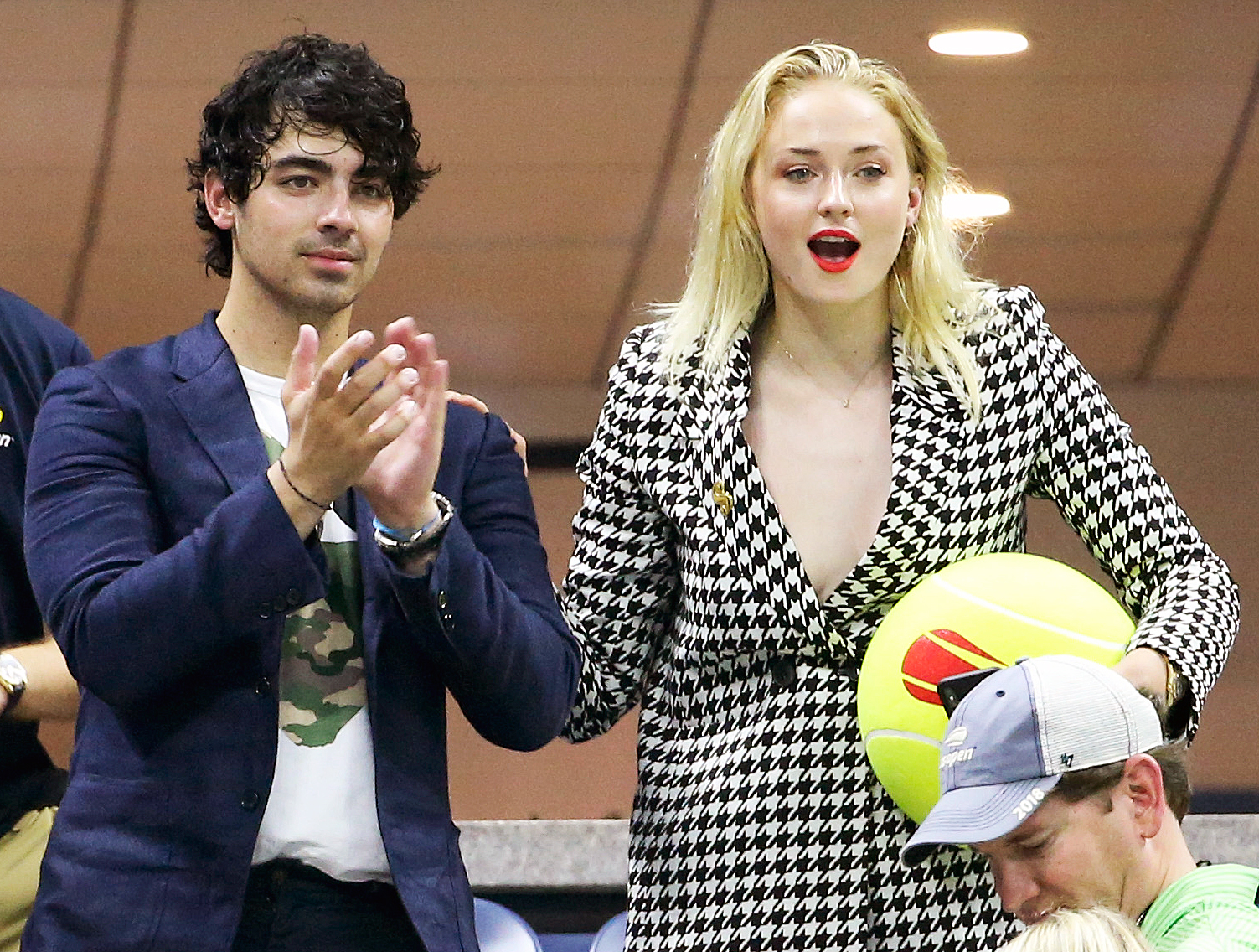 Joe Jonas Sophie Turner Us Open 2018 - The engaged couple looked on in amazement during the September 3 game.