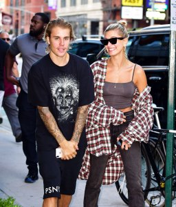 Hilaria Baldwin, Justin Bieber, and Hailey Baldwin