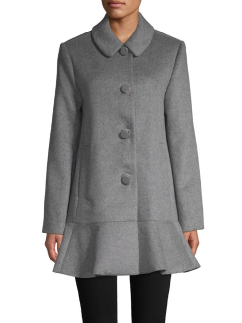 kate spade new york flared long-sleeve coat