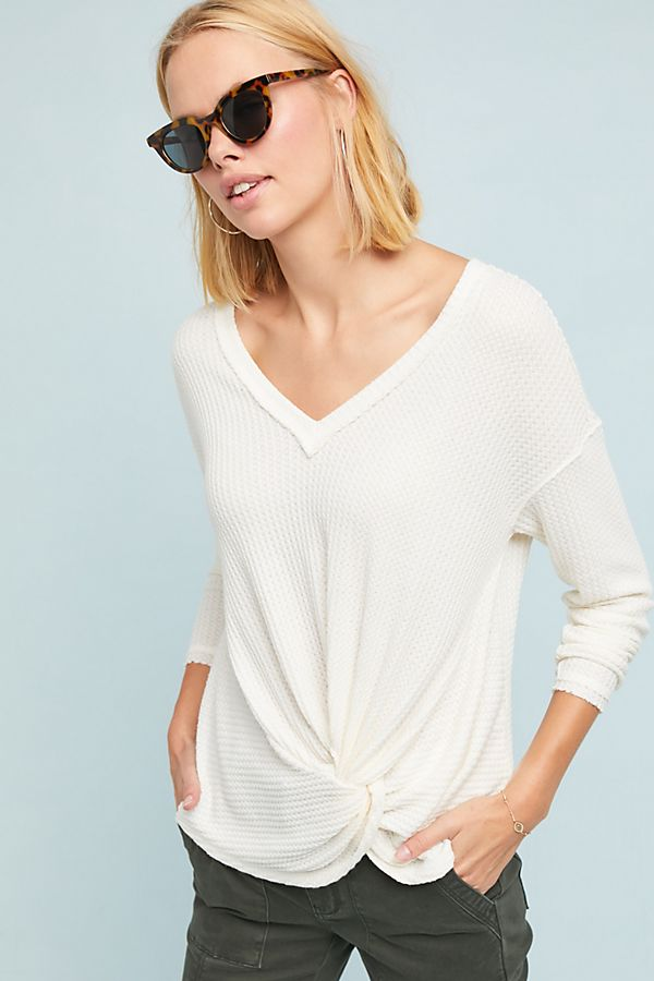 knotted waffle top anthropologie