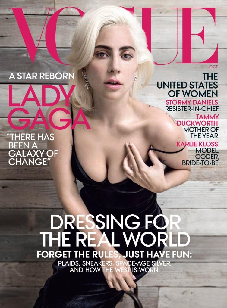 Lady Gaga S Minimal Hair Makeup On October 2018 Vogue