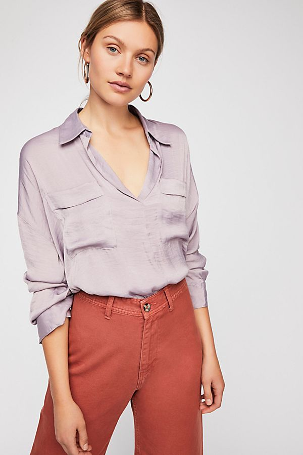 lavender shade blouse free people starry dreams