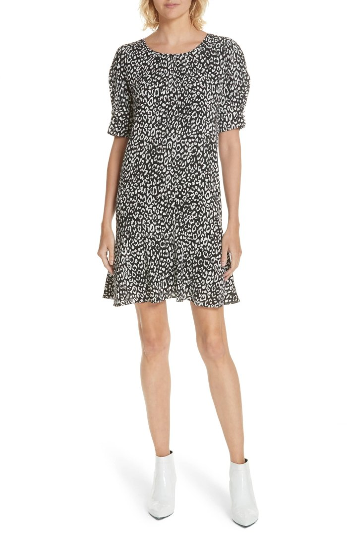 leopard print dress flouncy