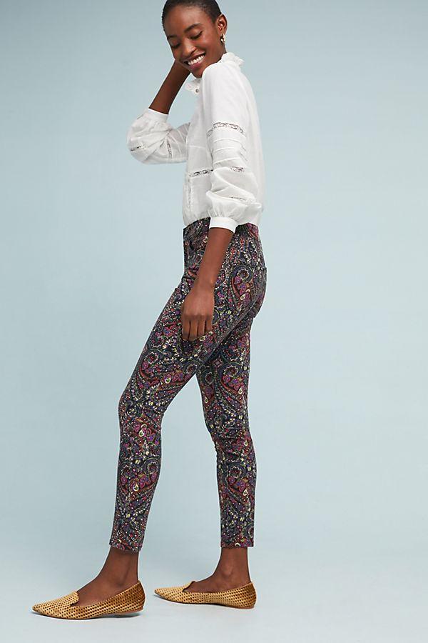 motif skinny ankle jeans