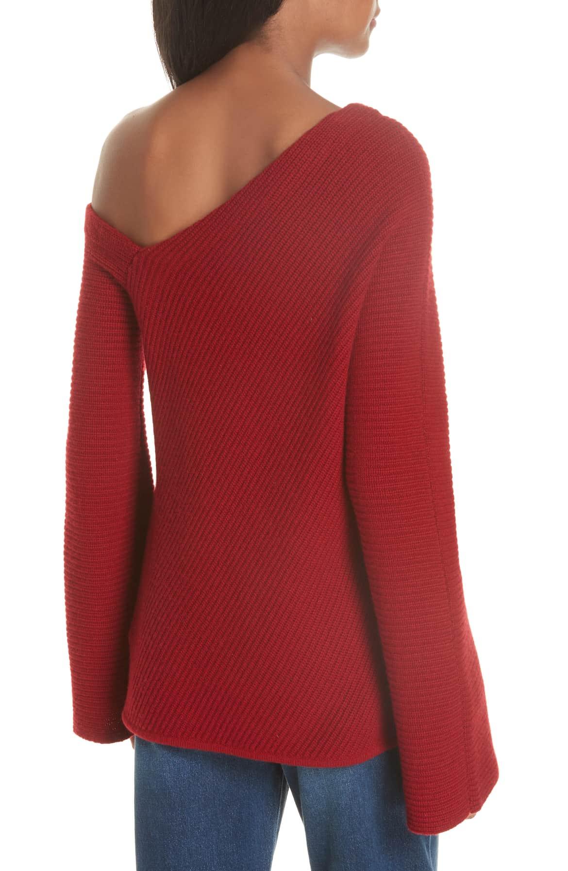 open back sweater one shoulder designer nordstrom