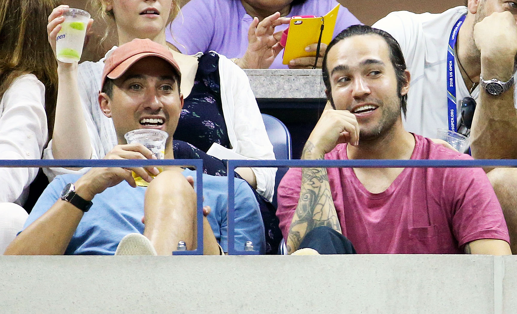 Pete Wentz Us Open 2018 - The Fall Out Boy singer looked nervous as he watched a game on August 30.