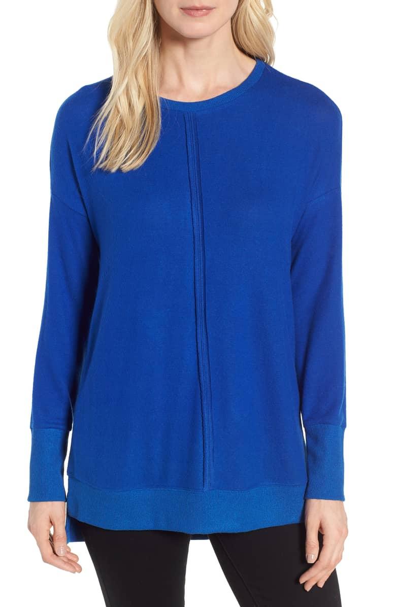blue fleece top long sleeved nordstrom