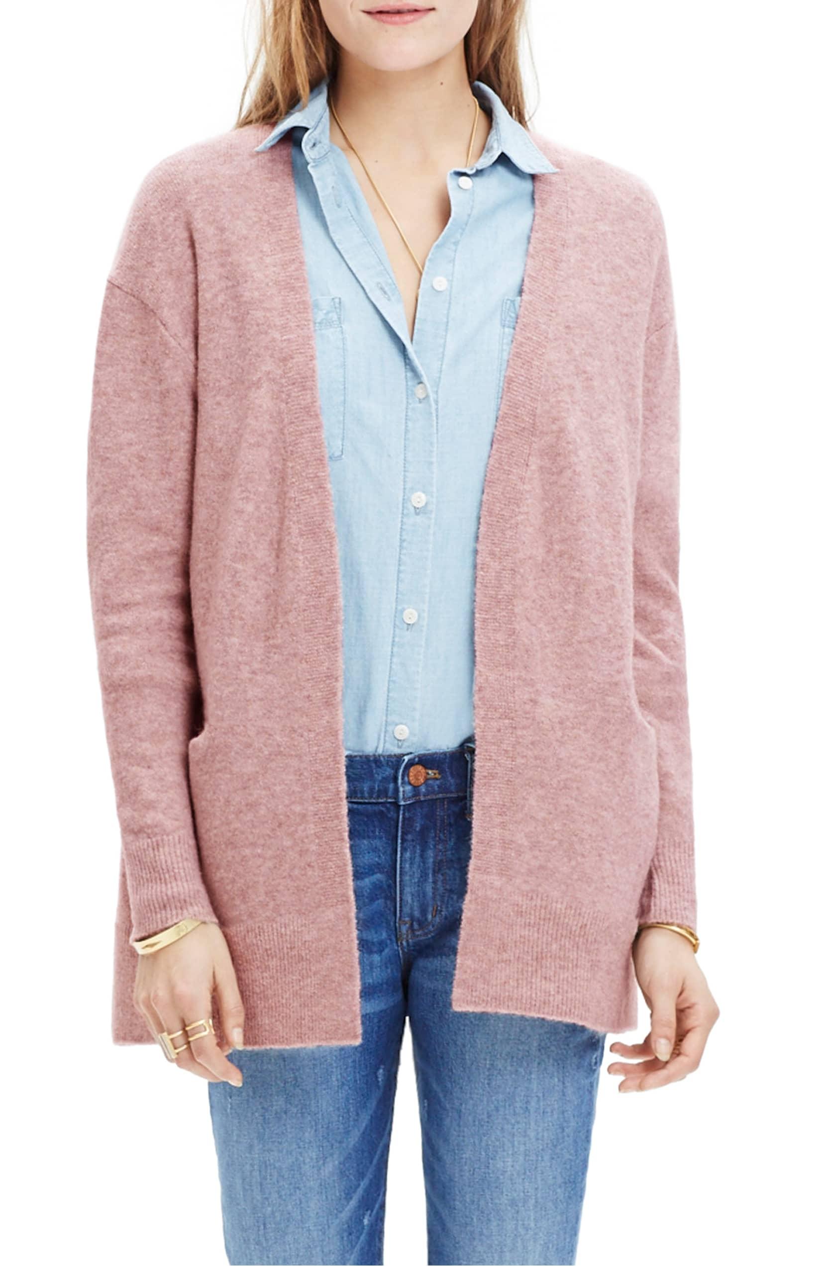 pink cardigan madewell