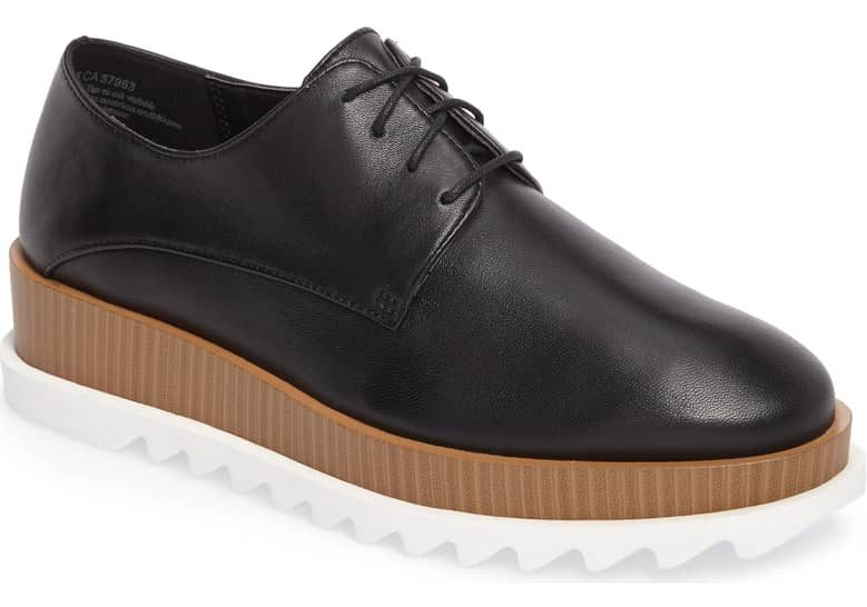 fade10ec73c The Treasure   Bond Noah Tiered Platform Derby shoes are equal parts  comfort and glam! Their platform soles include a cushy foam footbed so you  can walk ...