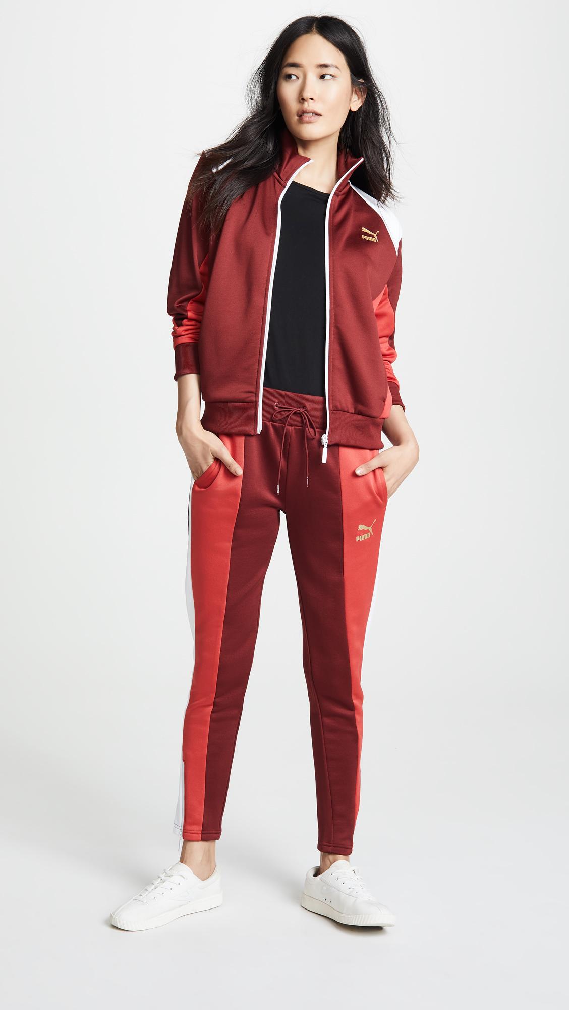 color block puma jacket track suit set shop bop