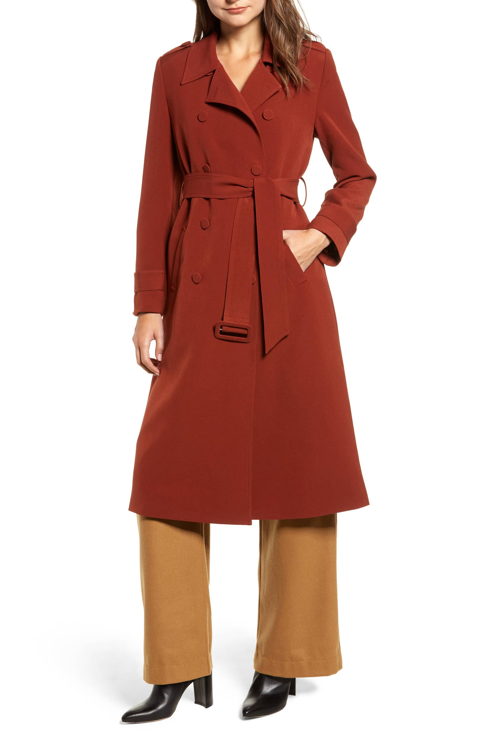 rust trench nordstrom chriselle lim
