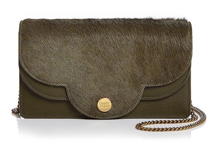 see by chloe polina bag calf hair flap green bloomingdales sale