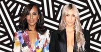 Kerry Washington and Kim Kardashian