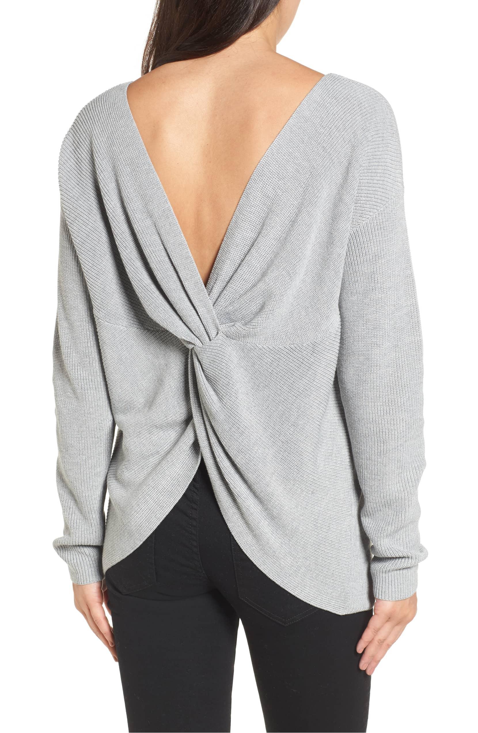 sweater twist back nordstrom