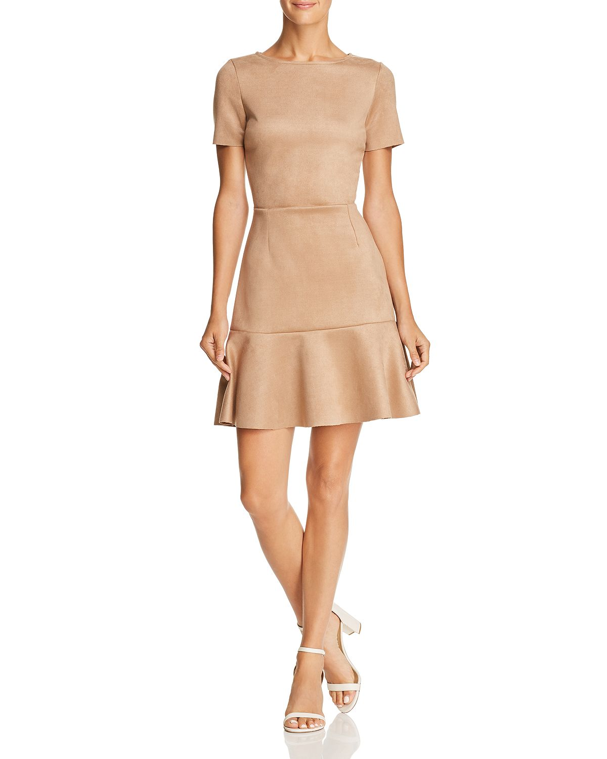 taupe faux suede dress bloomingdale's sale