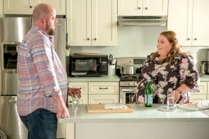 Chris Sullivan as Toby and Chrissy Metz as Kate on This Is Us