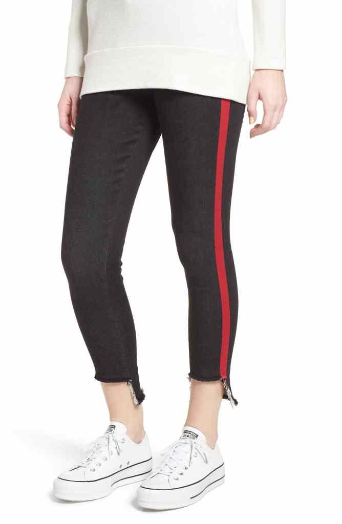 leggings with stripes on the side tuxedo leggings denim jeggings