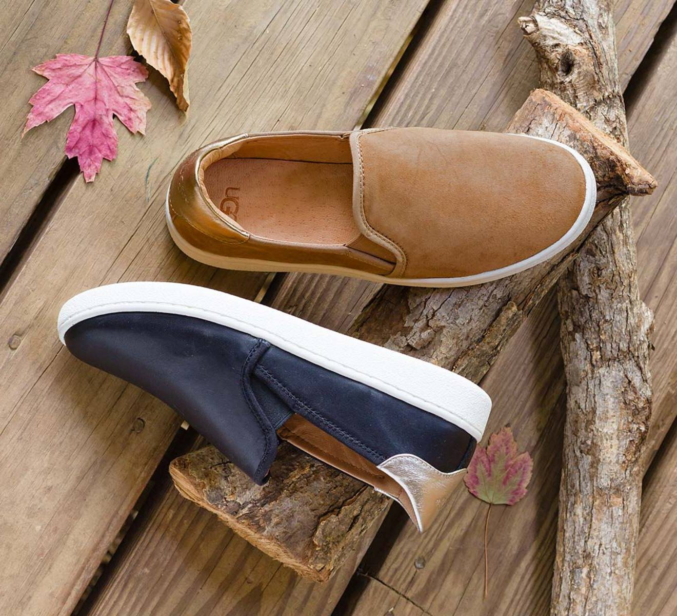 9e45a228be9 Slip on These Sporty Ugg Sneakers in Leather or Suede