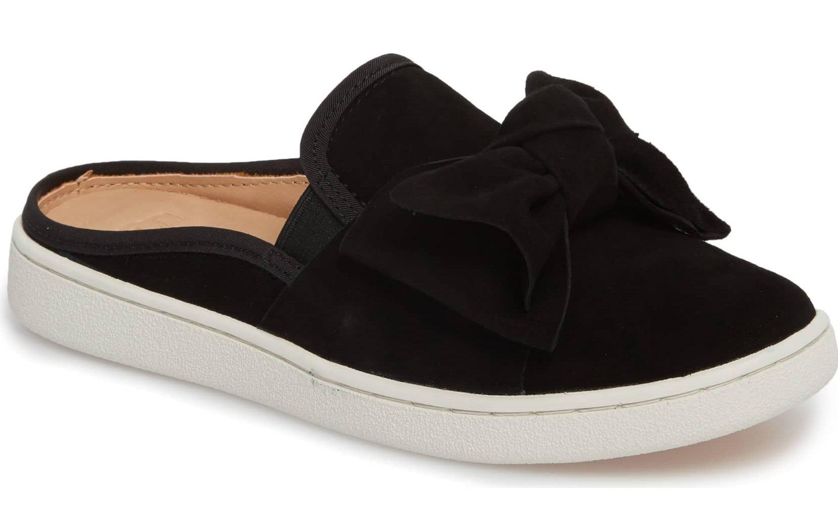 ugg mule flat slides sneakers black