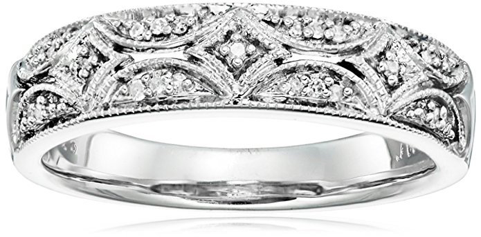 Amazon Collection Sterling Silver Diamond Band Ring