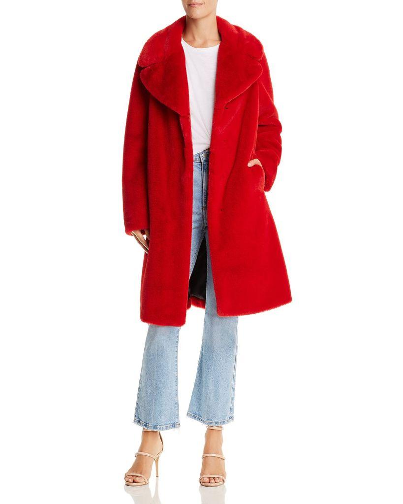 Aqua Faux Fur Coat