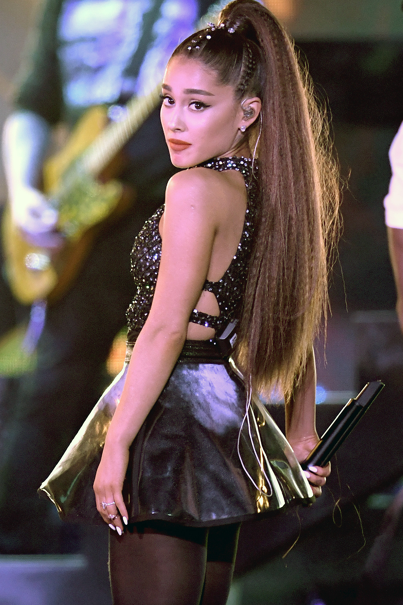 Ariana Grande, Canceled Event, Scooter Braun - Ariana Grande performs onstage during the 2018 iHeartRadio by AT&T at Banc of California Stadium on June 2, 2018 in Los Angeles, California.