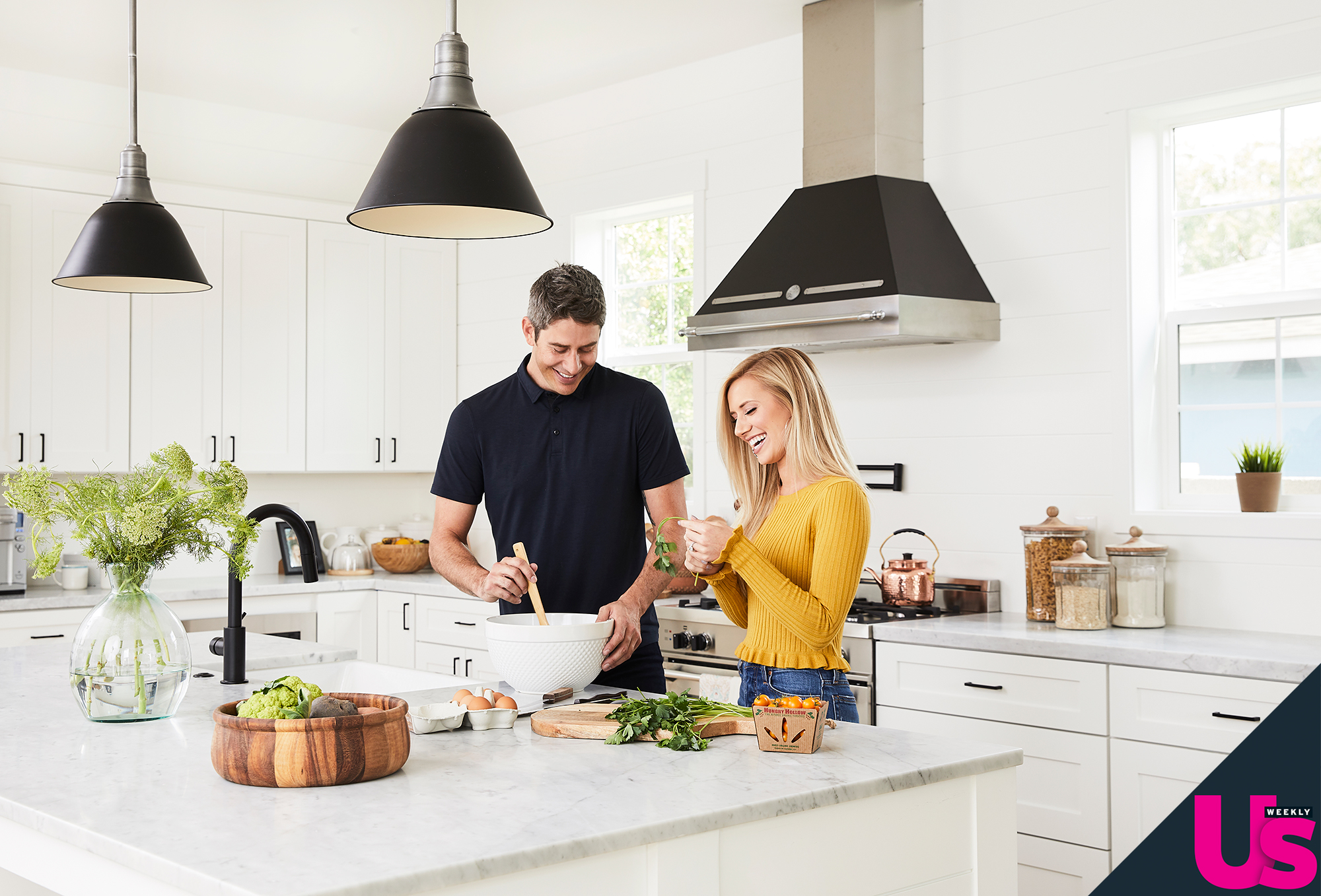 """Arie Luyendyk Jr Lauren Burnham New Home - """"Some of our must-have cooking essentials would have to be a good set of mixing bowls, quality pots and pans and an overwhelming amount of wooden spoons and spatulas,"""" the realtor tells Us . """"It's so open."""""""
