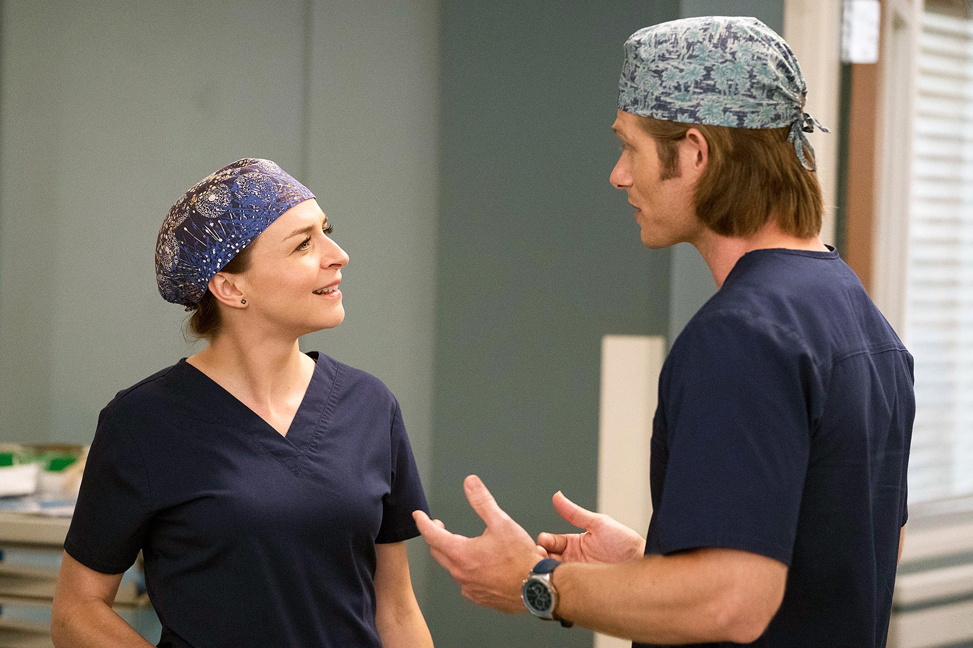 Amelia Dr. Link Grey's Anatomy - Caterina Scorsone as Amelia and Chris Carmack as Dr. Link on 'Grey's Anatomy.