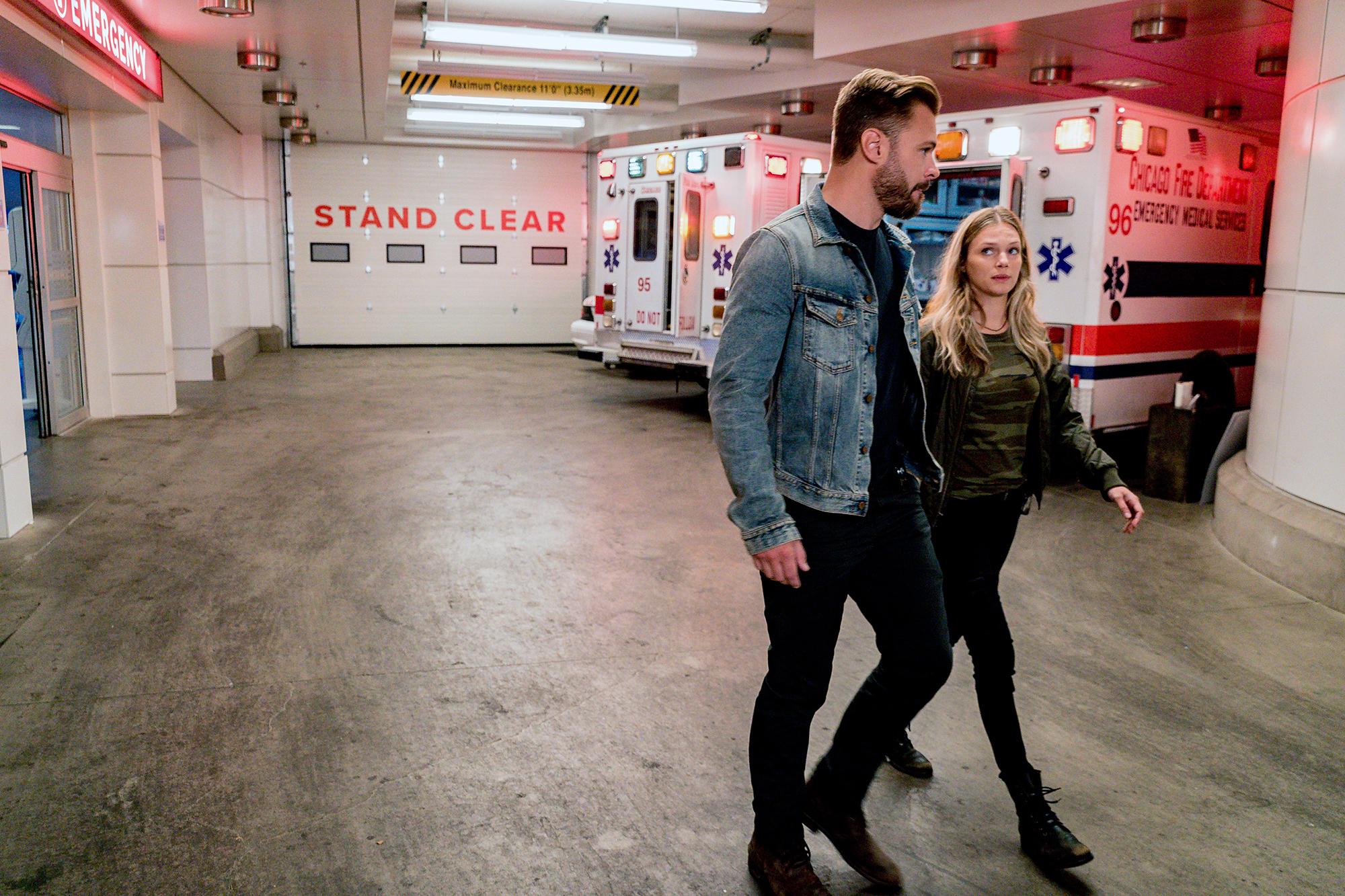 Chicago P.D.'s Patrick Flueger Worries Fans Will 'Be Pissed Off' Over Romance Twist - Patrick John Flueger as Adam Ruzek and Tracy Spiridakos as Hailey Upton in 'Chicago P.D.'